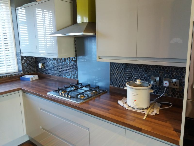 Kitchen tiling job Mapperley: Swipe To View More Images